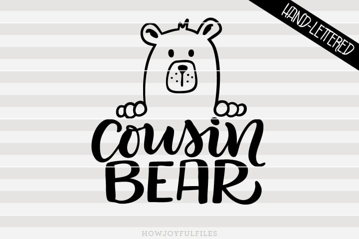 Cousin bear – SVG file