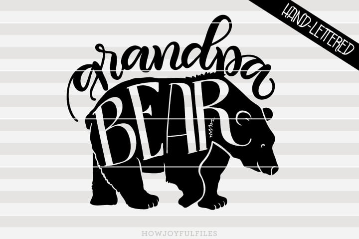 Grandpa bear – SVG file