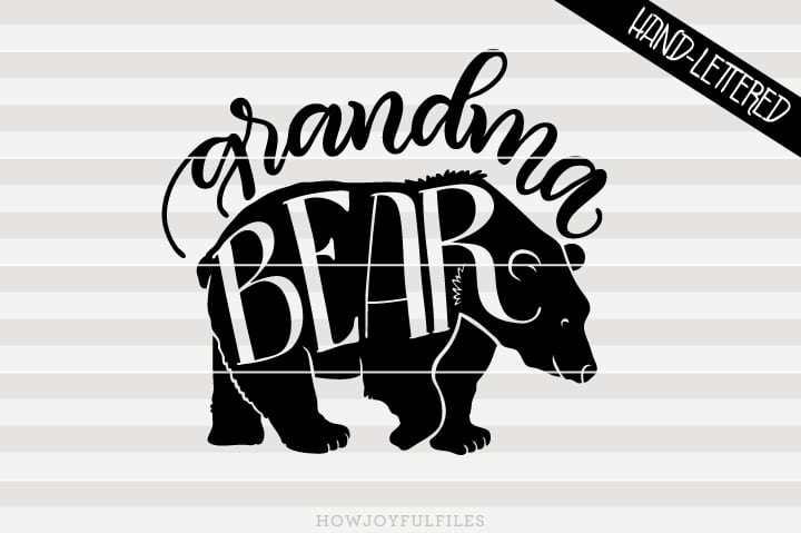 Grandma bear – SVG file