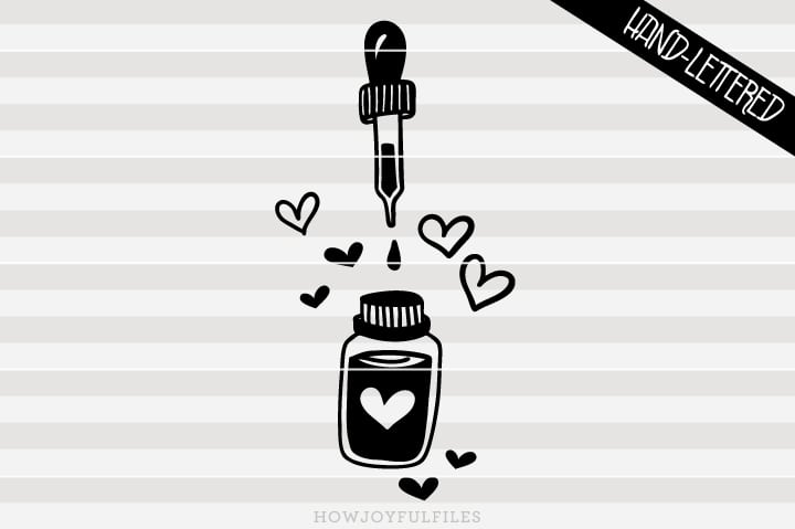 Oil love graphic – Essential oil – SVG file