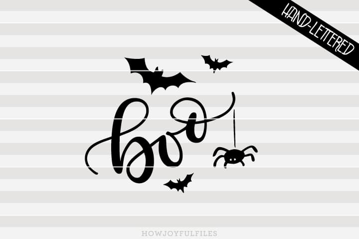 Boo – Bats – Baby's first Halloween – SVG file