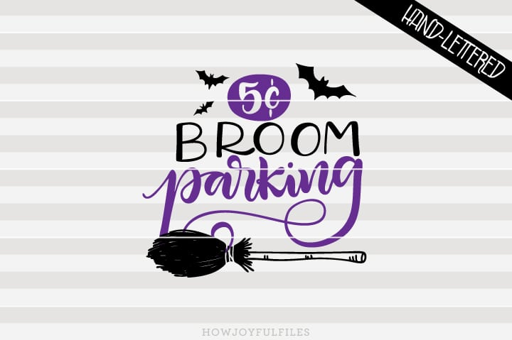 Broom parking 5c – Halloween – SVG file