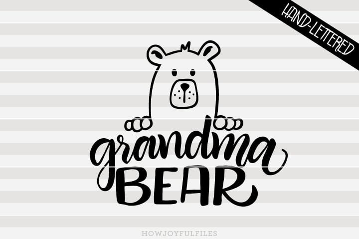 Grandma bear head – SVG file