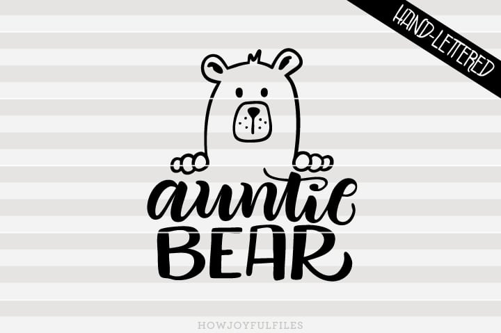 Auntie bear head – SVG file