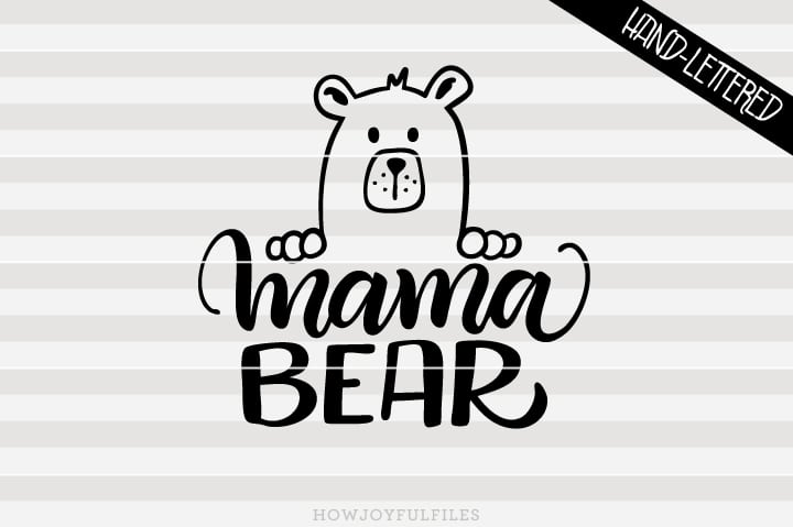 Mama bear head – SVG file