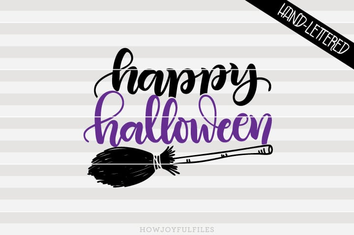 Happy halloween – broom – SVG file