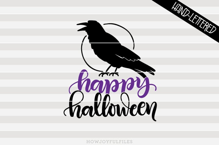 Happy halloween – crow – SVG file