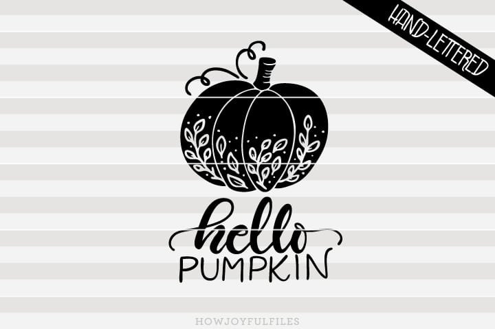 Hello pumpkin – Autumn Fall – SVG file