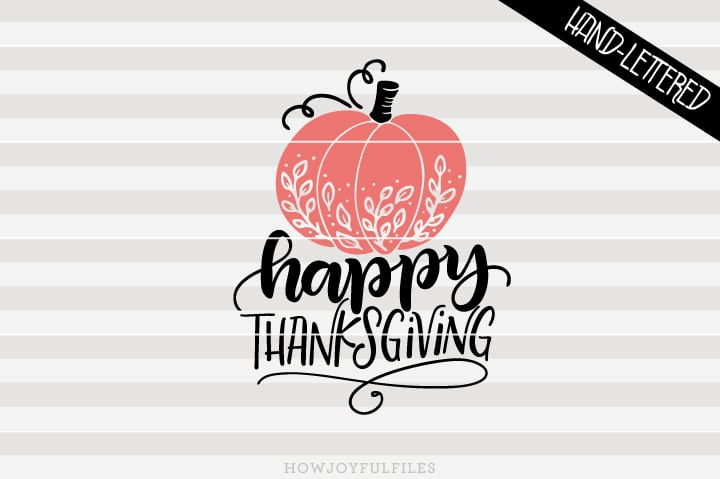 Happy thanksgiving – Pumpkin – SVG file