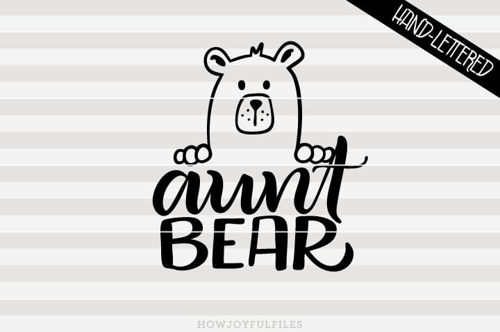Aunt bear head – SVG file