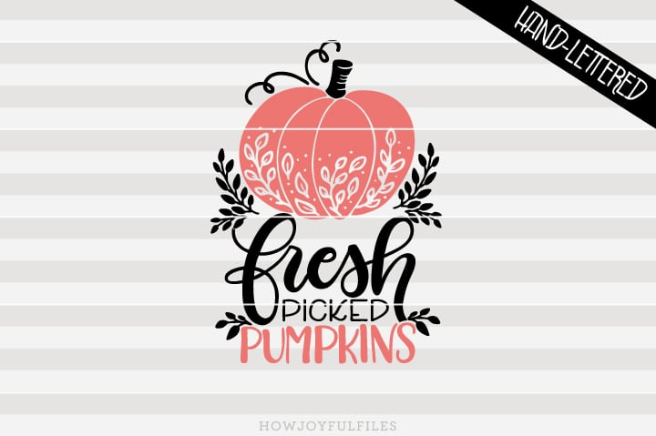 Fresh picked pumpkins – Happy thanksgiving – SVG file