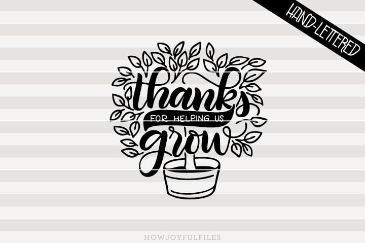 Thank you for helping us grow – Teacher appreciation – Tree – SVG file