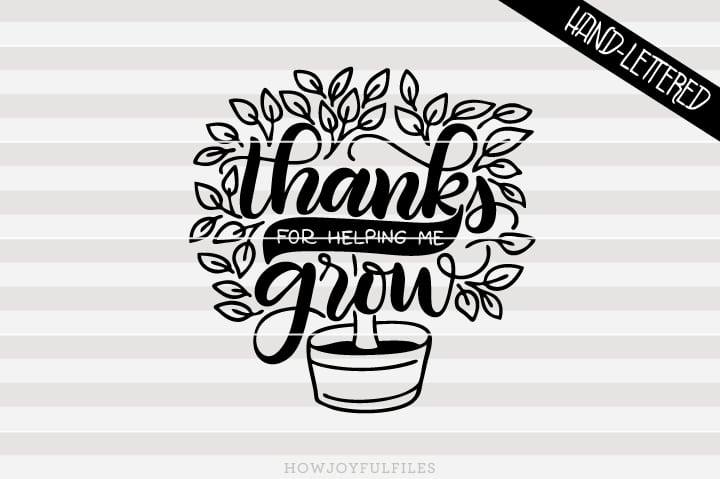 Thank you for helping me grow – Teacher appreciation – Tree – SVG file
