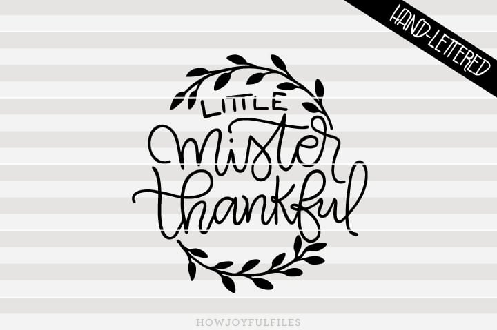 Little mister thankful – First thanksgiving – SVG file
