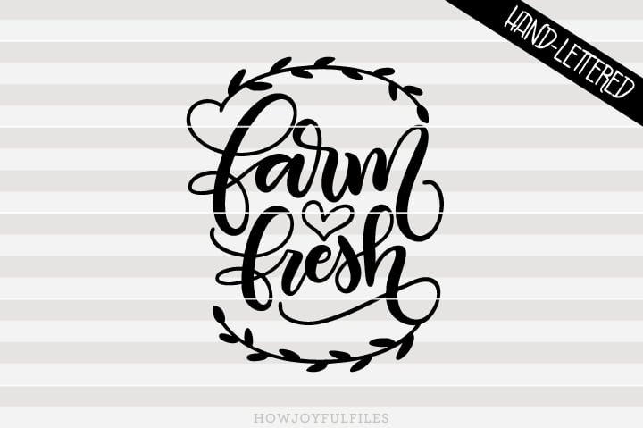 Farm fresh – Wreath – Kitchen sign art – SVG file