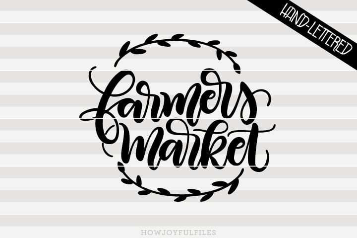 Farmers Market – Tote & sign art – SVG file