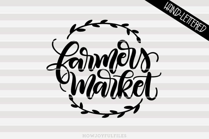 Farmers Market – Tote & sign art – SVG file