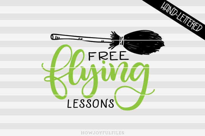 Free flying lessons – Broom – Halloween – SVG file