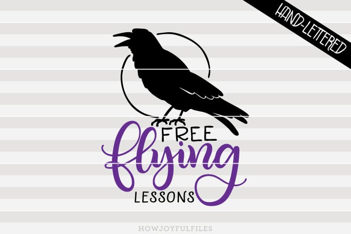 Free flying lessons – Black Crow – Halloween – SVG file