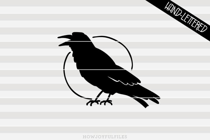 Crow Silhouette – Halloween – SVG file