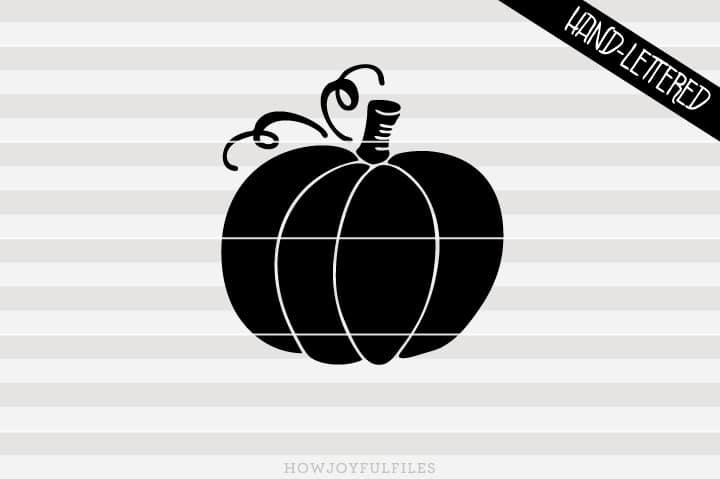 Pumpkin Silhouette – Thanksgiving – Halloween – SVG file