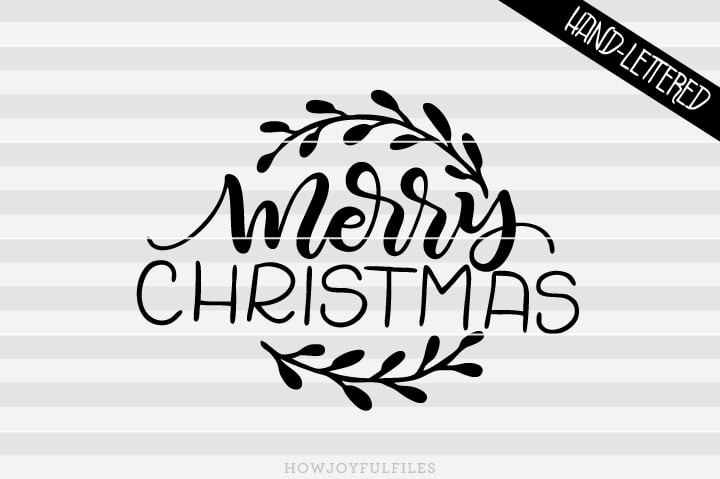 Merry Christmas Wreath – Farmhouse sign art – SVG file