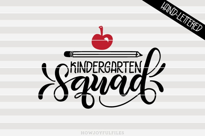 Kindergarten Squad – School – Teacher – SVG File