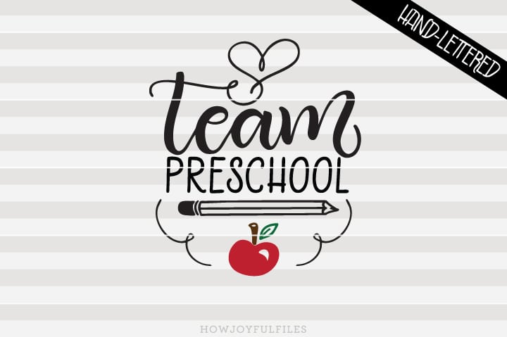Team Preschool – School – Teacher – SVG File