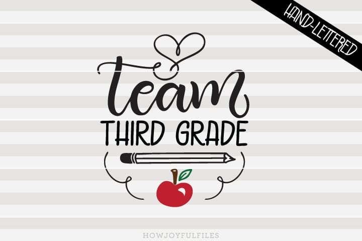 Team Third Grade – School – Teacher – SVG File