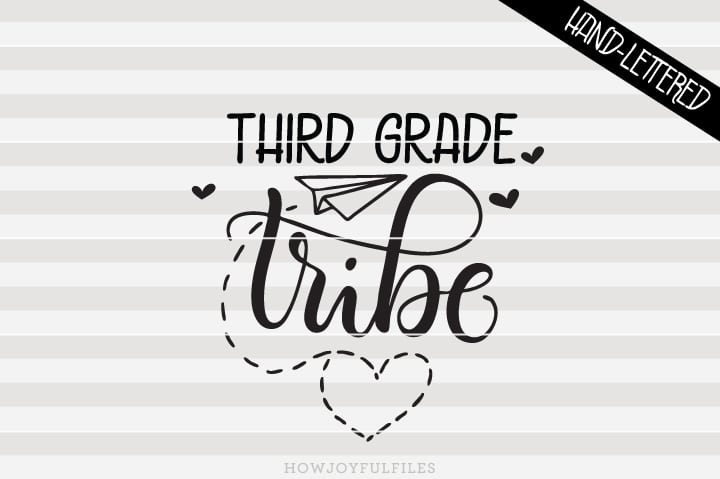 Third Grade Tribe – School – Teacher – SVG File