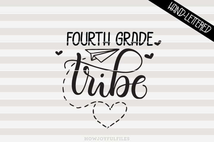 Fourth Grade Tribe – School – Teacher – SVG File