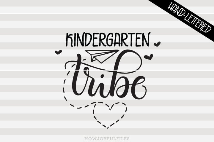 Kindergarten Tribe – School – Teacher – SVG File