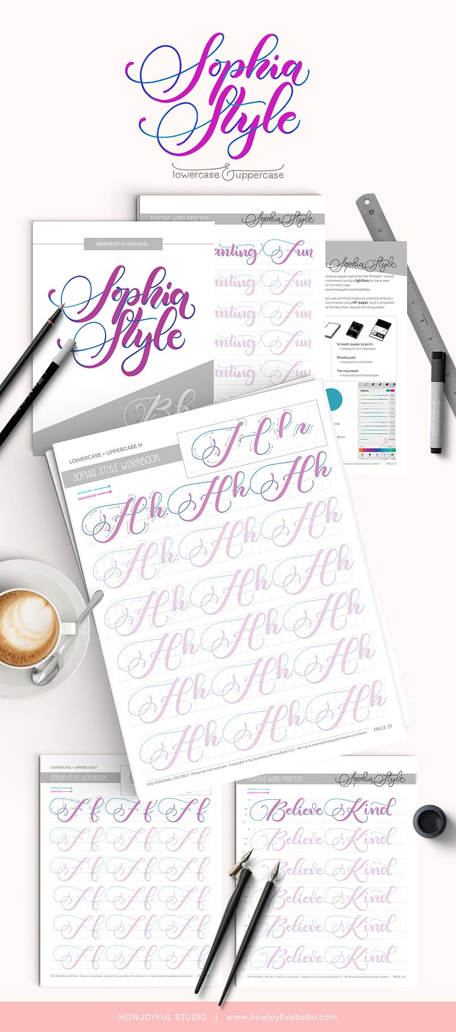 worksheets lettering