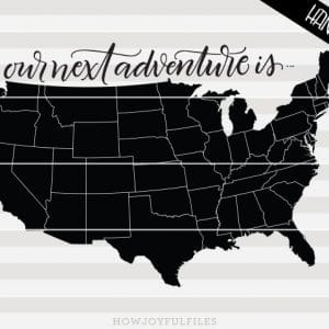 our next adventure USA map
